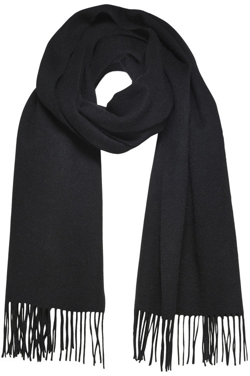 Selected Femme Time Wool Scarf Black