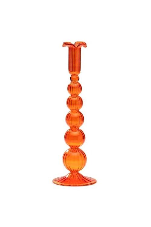 Anna+Nina Southern Sun Orange Glass Candle Holder