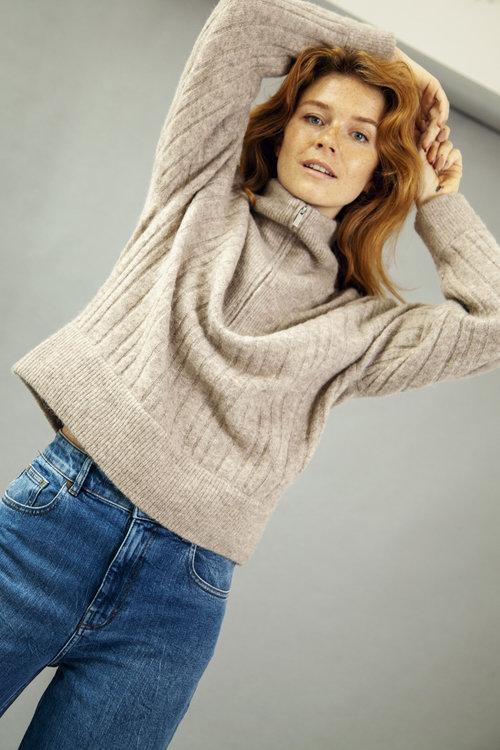 Gestuz Alpha Zipper Knitted Pullover
