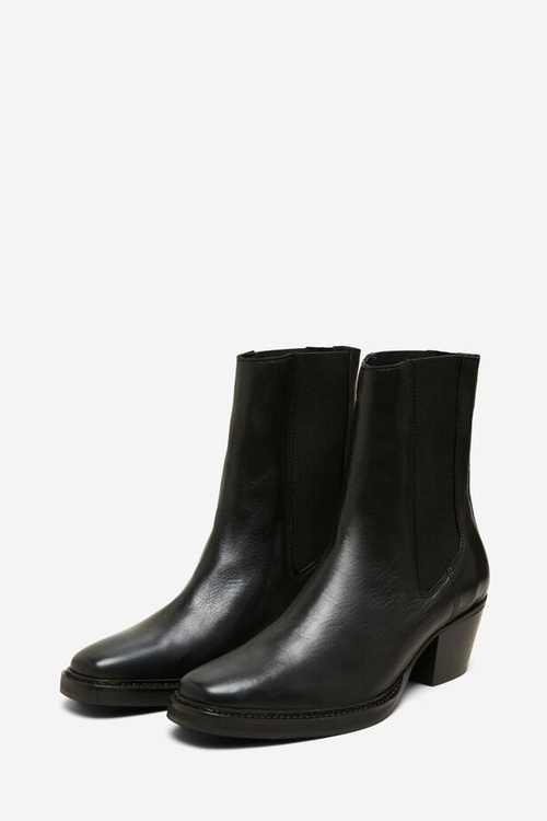 Selected Femme Cece leather chelsea boots