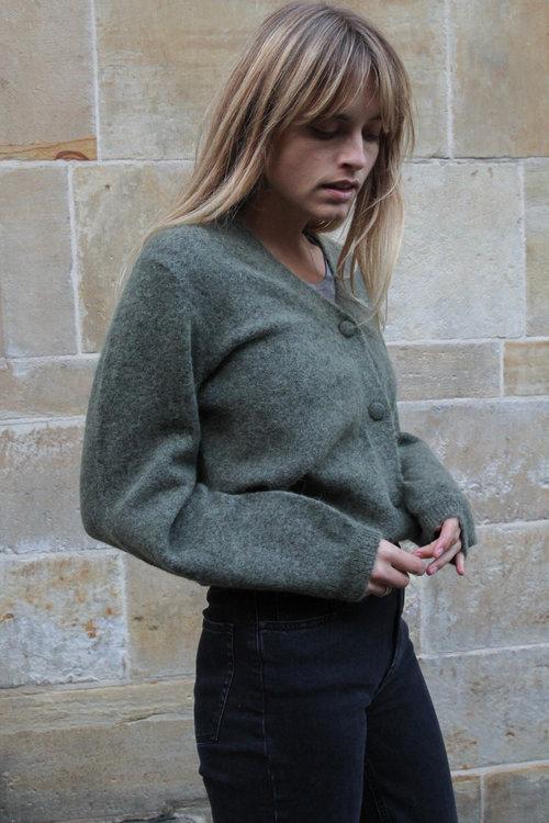 Selected Femme Kaya LS Knit Green