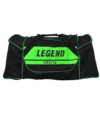 Legend Sporttas Legend met 3 rits vakken zwart neon groen