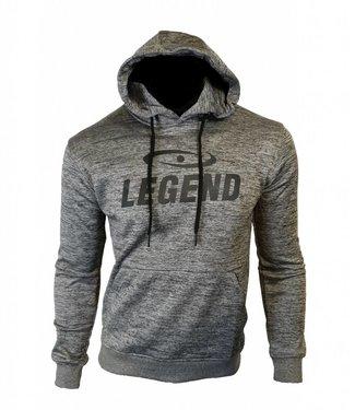 Legend Hoodie dames/heren trendy Legend design Grijs