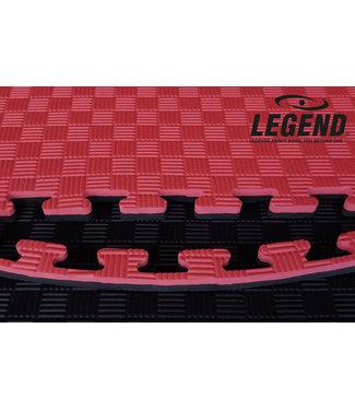 Legend Sports Legend Puzzelmat sport 2.5CM Zwart/Rood