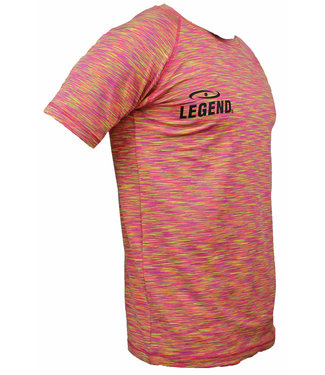 Legend Sportshirt Legend DryFit Geel melange