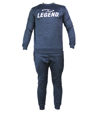 Legend Sports Joggingpak dames/heren met trui/sweater Navy Blauw