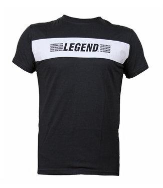Legend Sports T-Shirt zwart Legends Aren't born, you become one