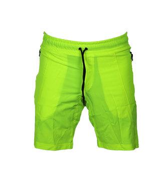 Legend Sports Korte broek/short Legend met rits vakken Neon Groen