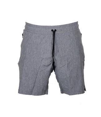 Legend Sports Korte broek/short Legend met rits vakken melange grijs