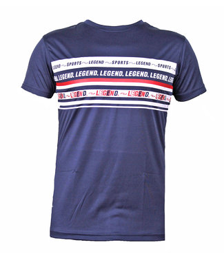 Legend Sports t-shirt navy blauw DriFit Legend inspiration quote