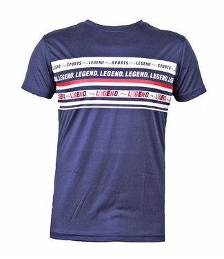 Legend Sports t-shirt navy blauw DriFit Legend inspiration quote