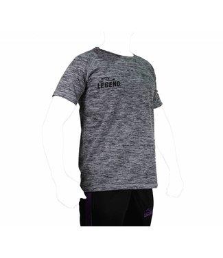 Legend Sportshirt Legend DryFit zwart melange
