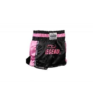 Legend Kickboks broekje dames roze/zwart Legend Trendy