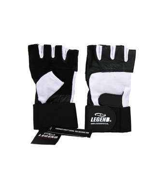 Legend Sports Fitness handschoenen leder zwart/wit Legend