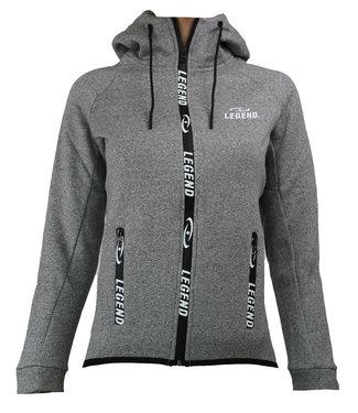 Legend Vest trendy Legend design Fleece grijs