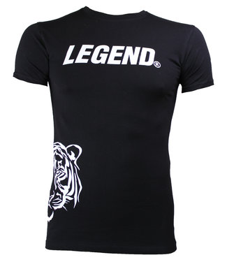 Legend Sports t-shirt zwart Slimfit Legend Panter