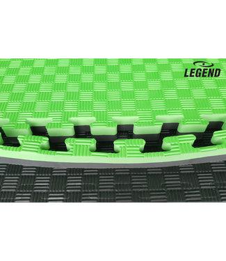 Legend Sports Legend Puzzelmat sport 4CM Groen/Zwart