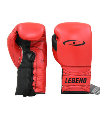 Legend Sports Bokshandschoenen Limited Legendary Rood/Mat zwart