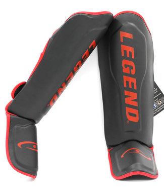 Legend Sports Scheenbeschermers Legend Best zwart/rood verticale print