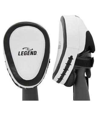 Legend Sports Focus Pads Leder Heavy Duty Gel Wit/Zwart