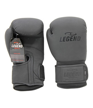 Legend Sports Leren Bokshandschoenen Legend Power Mat Zwart