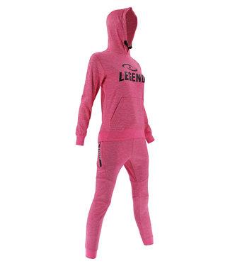 Legend Sports Joggingpak dames/heren met hoodie Roze