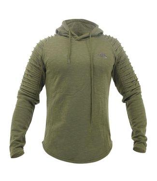 Legend Sports Hoodie Rib Sleeve Green