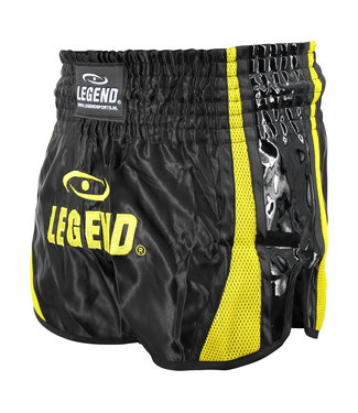 Legend Sports Kickboks Broekje Black & Yellow