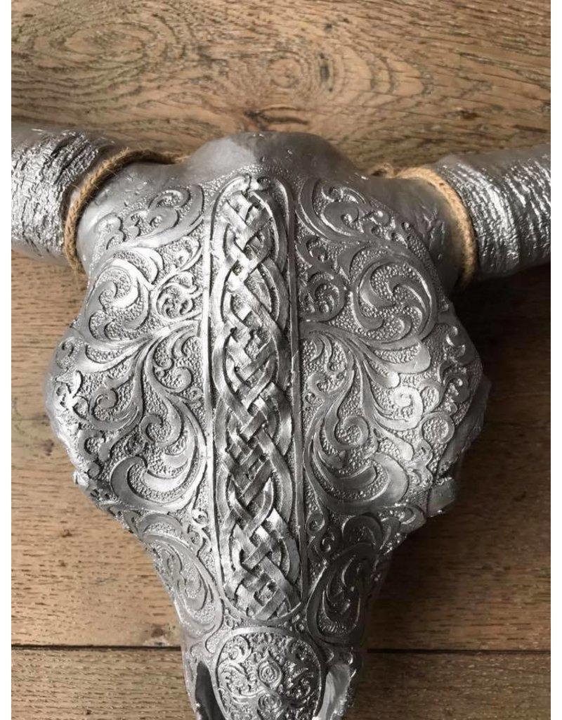 Damn Skull 40 cm zilver