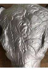 Damn Skull gegraveerd indiaan 68 x 80 cm