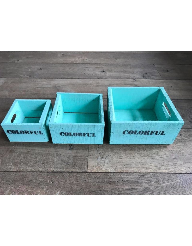 Damn Kist turquoise 15 x 15