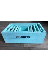 Damn Set of boxes 6 turquoise