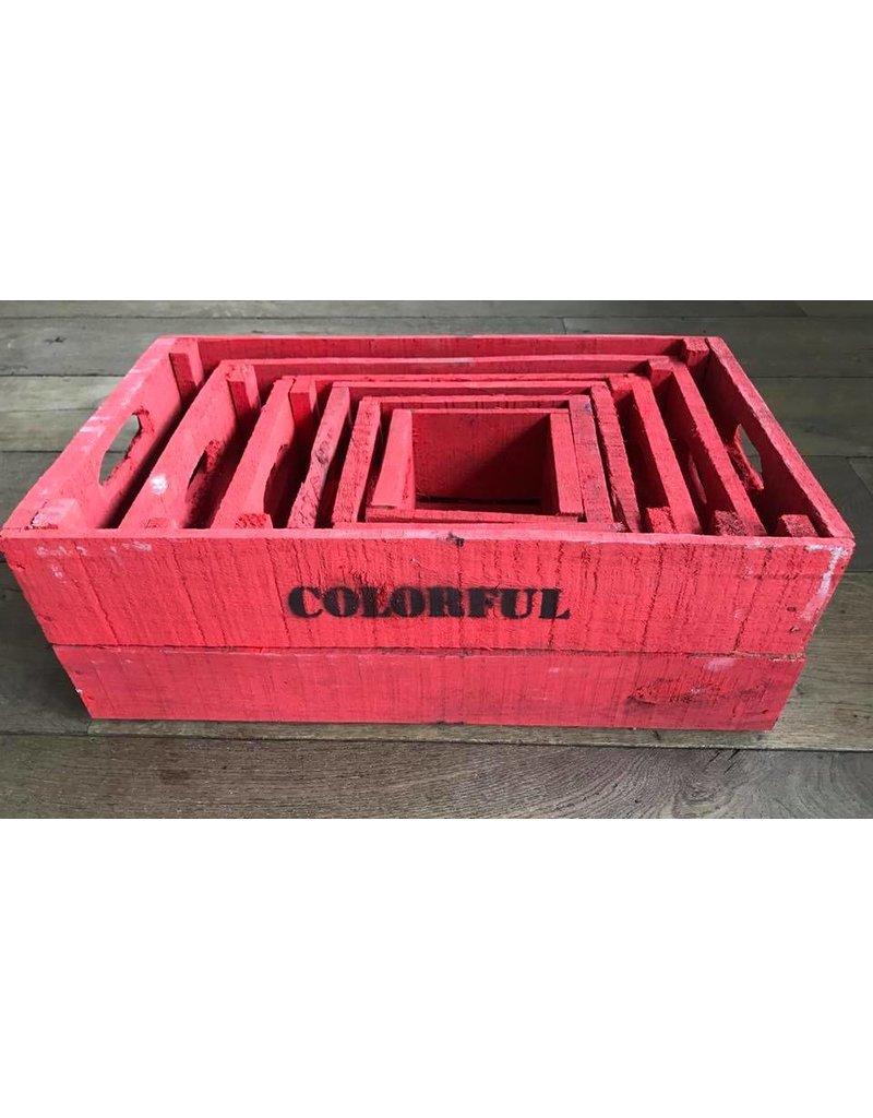 Damn Set of boxes 6 brick-red
