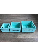 Damn Set of boxes 3 small turquoise