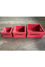 Damn Set van 3 kleine kisten rood