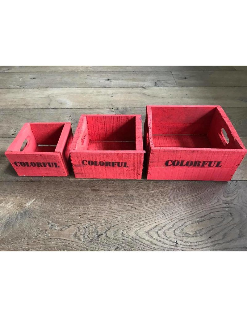 Damn Set of 3 small red boxes