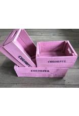 Damn Set of three large boxes pink