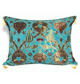 esperanza-deseo Flowers turquoise pillow case / cushion cover ± 50x70cm