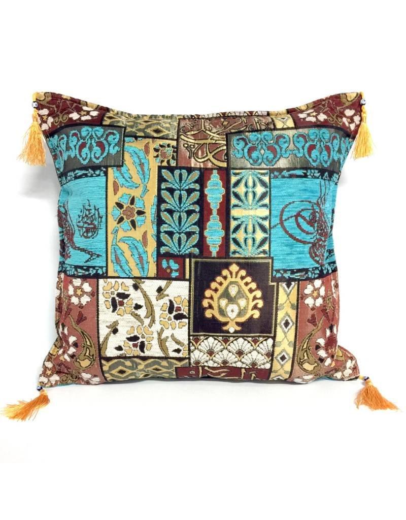 esperanza-deseo Patchwork brown pillow case / cushion cover ± 45x45cm
