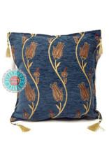 esperanza-deseo Flowerstring blue 45 x 45 cm