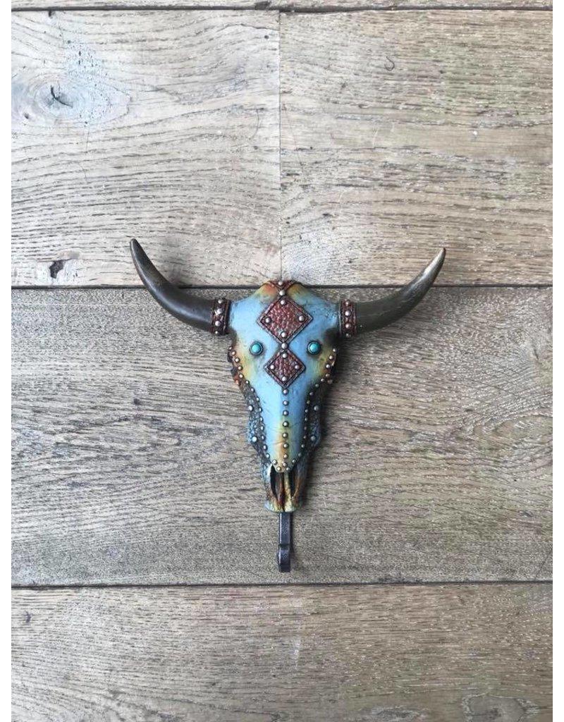 Damn Kapstokje blauw 20 x 20 cm