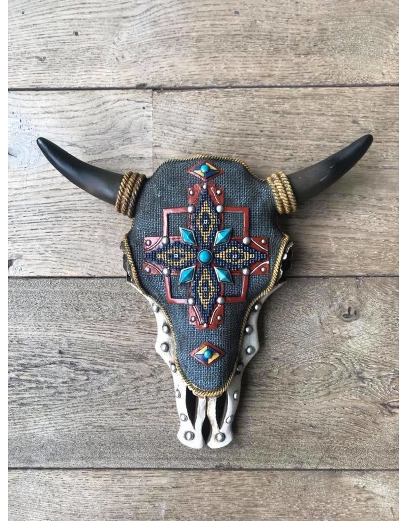 Damn Skull decorated colored