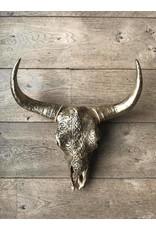 Damn Skull 40 cm brons