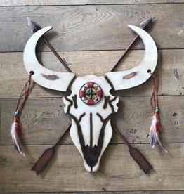 Damn Skull plat groot 56 x 70 cm