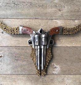Damn Skull revolvers plat 74 x 40 cm