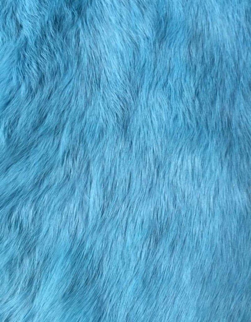 Damn Konijnenvacht S bont lichtblauw