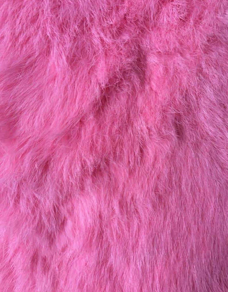 Damn Konijnenvacht S bont roze