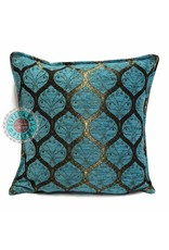 esperanza-deseo Honingraat turquoise kussenhoes/cushion cover ± 45x45cm