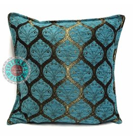 esperanza-deseo Honingraat turquoise kussenhoes/cushion cover ± 45x45cm
