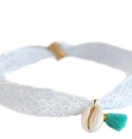 Love Ibiza Enkelbandje white lace